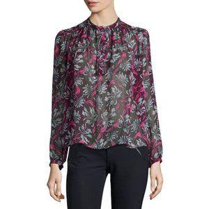 REBECCA TAYLOR mystic floral sheer blouse
